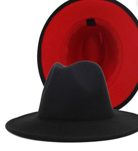 Over size fedora red bottom hat
