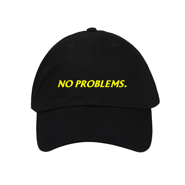 "Casquette ""NO PROBLEMS."" Noir"