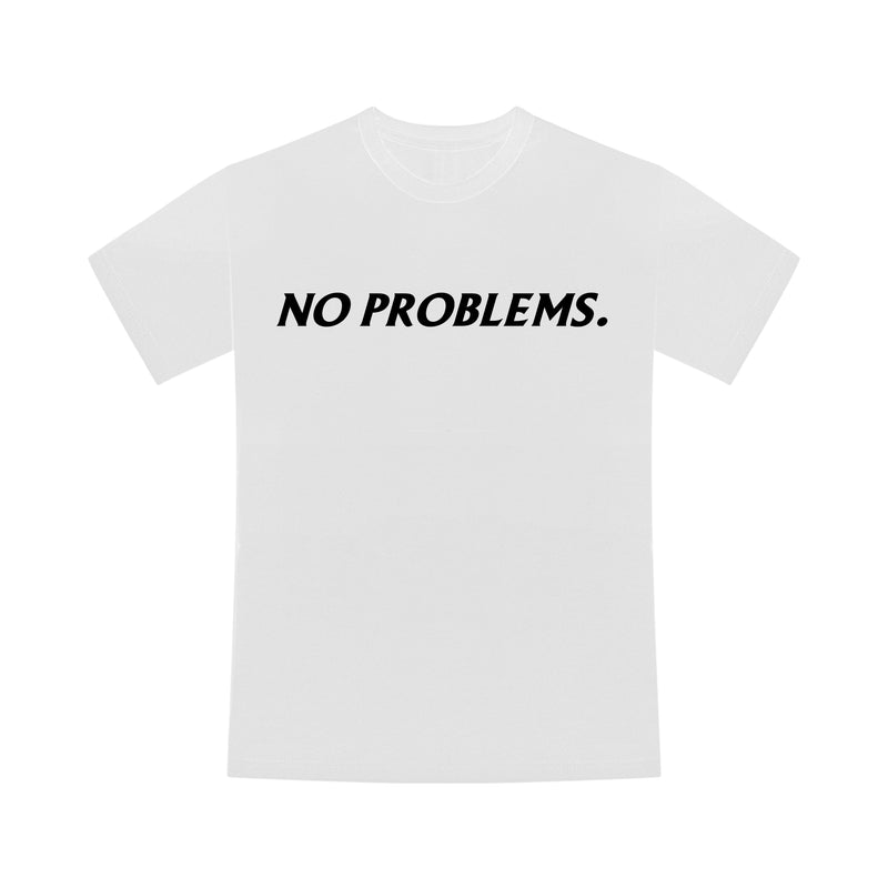 "T-shirt ""NO PROBLEMS."" Blanc"