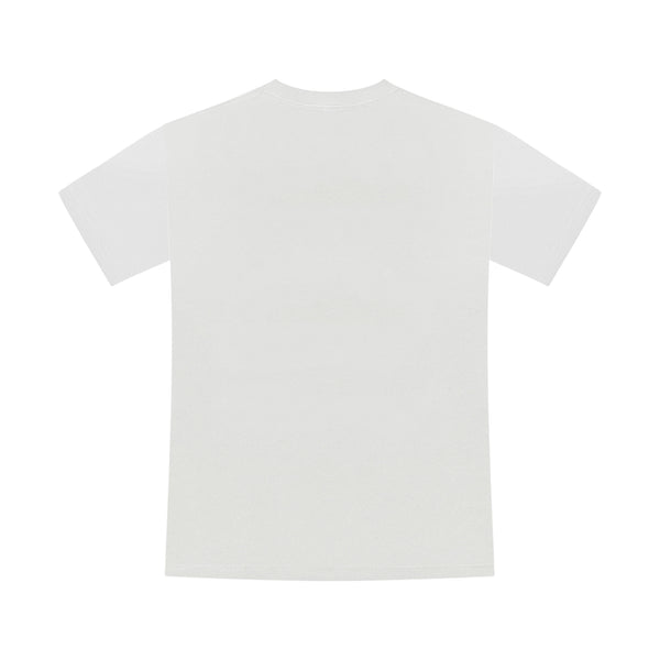 "T-shirt ""NO PROBLEMS. GIRL"" blanc"