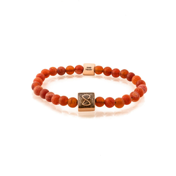 Red Saint Barth's Classic Bracelet | Rose Gold