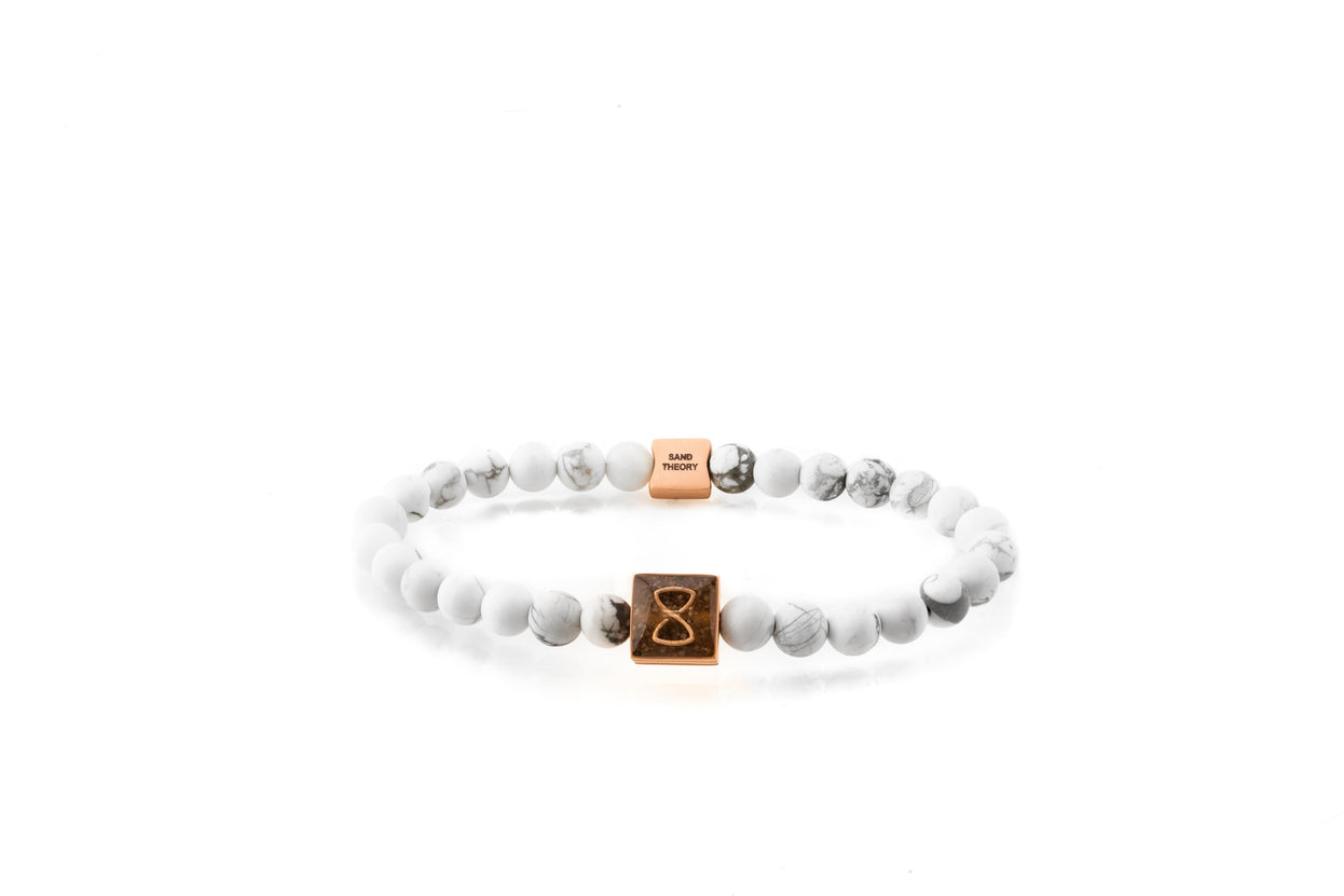 White Saint Barth's Classic Bracelet | Rose Gold