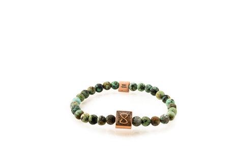 Green Saint Barth's Classic Bracelet | Rose Gold