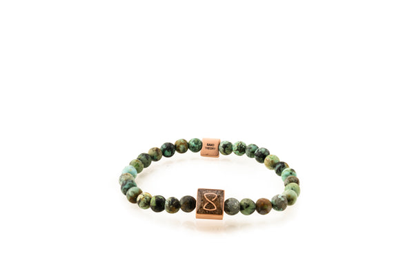 Green Miami Classic Bracelet | Rose Gold