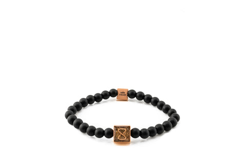 Black Miami Classic Bracelet | Rose Gold