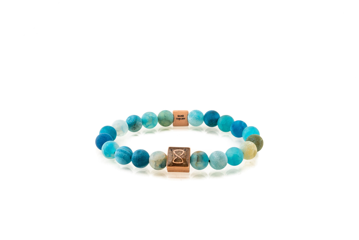 Blue Miami Classic Bracelet | Rose Gold