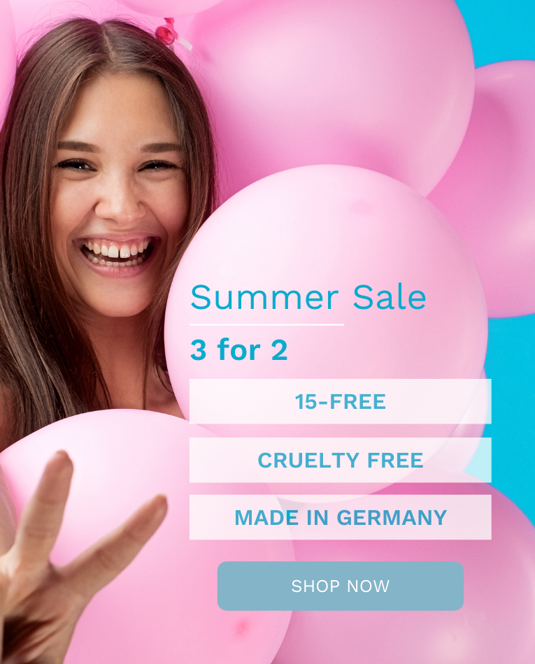 Summer sale 3 for 2, 15-free, Made in Germany, cruelty free