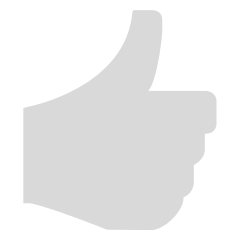 Thumbs up icon in gray
