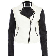 Super White Women Classic Leather Jackets