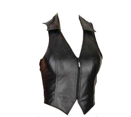 Zigzag Women Leather Vests - Xosack