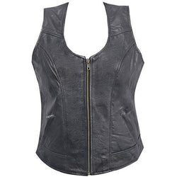 Zipping Women Leather Vests - Xosack