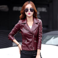 Women's Leather Jacket  Spring