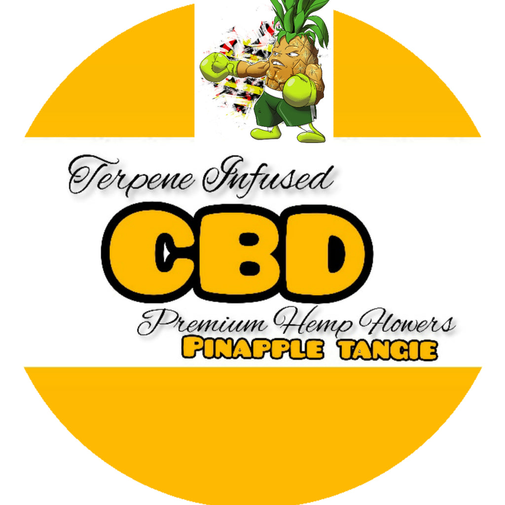 Terpene Infused CBD Hemp Flowers Pineapple/ Pineapple Tangie