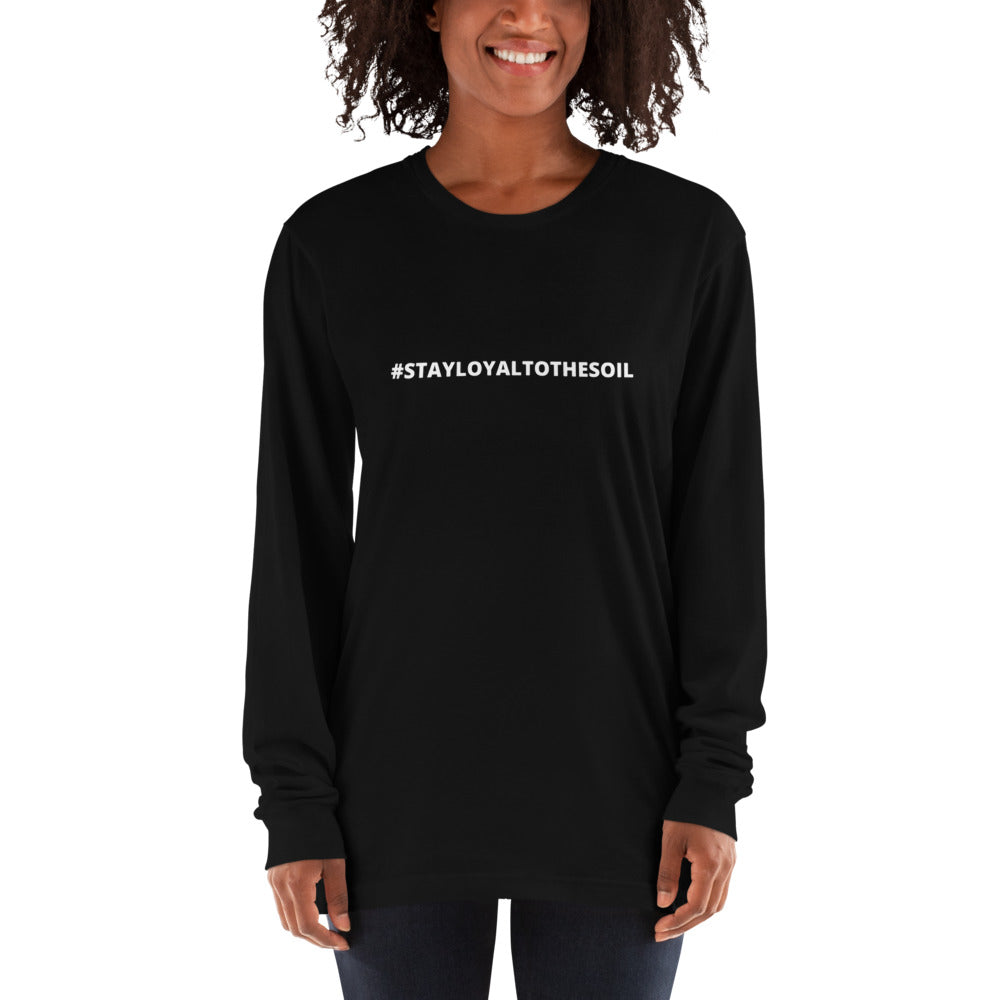 L.T.S #STAY LOYAL TO THE SOIL LONG SLEEVE UNISEX T-SHIRT  Black/ Asphalt/ Navy