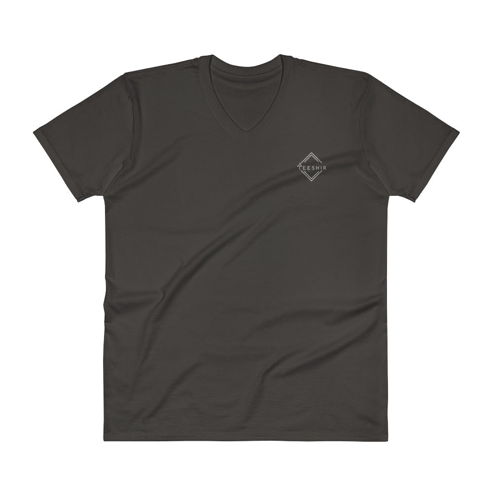 Teeshir - Black Men V-Neck T-Shirt [S - 2XL]