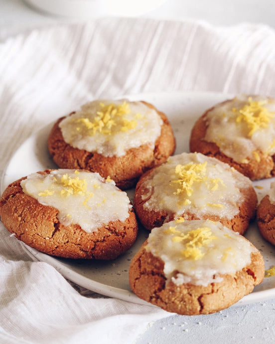 Lemon Zest Protein Cookies