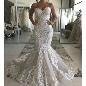 Sweetheart Lace Mermaid Wedding Dress