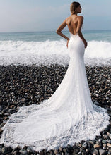 Load image into Gallery viewer, Lace Spaghetti Straps Backless Mermaid Wedding Dress