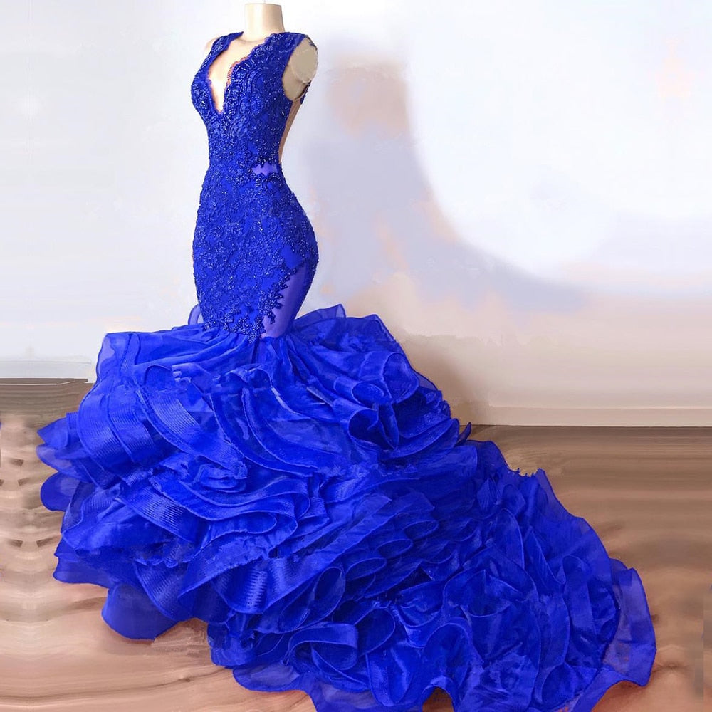 Tiered Evening Gown