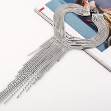 Load image into Gallery viewer, Long Chain Tassel Collar Necklace