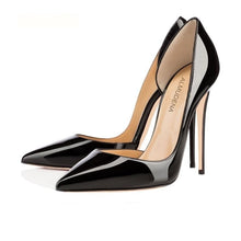 Load image into Gallery viewer, Pointed Toe Patent Leather Stiletto Shoe