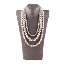 Load image into Gallery viewer, Multi Layer Pearl Necklace