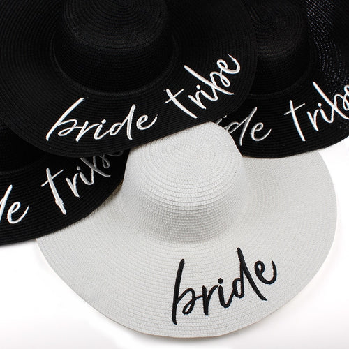 Bride Tribe Beach Wedding Floppy Sun Hat