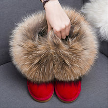 Load image into Gallery viewer, Faux Fur Snow Boots