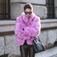Load image into Gallery viewer, Faux Fur Stand Collar Coat