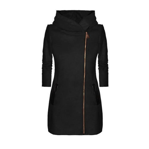 High Collar Hooded Coat