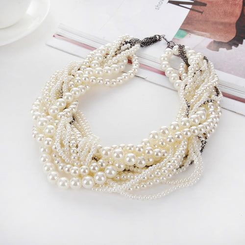 Retro Choker Pearl Necklace