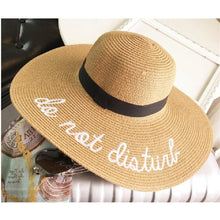 Load image into Gallery viewer, Wide Brim Do Not Disturb Sun Hat