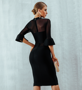 Bandage Mesh Evening Dress