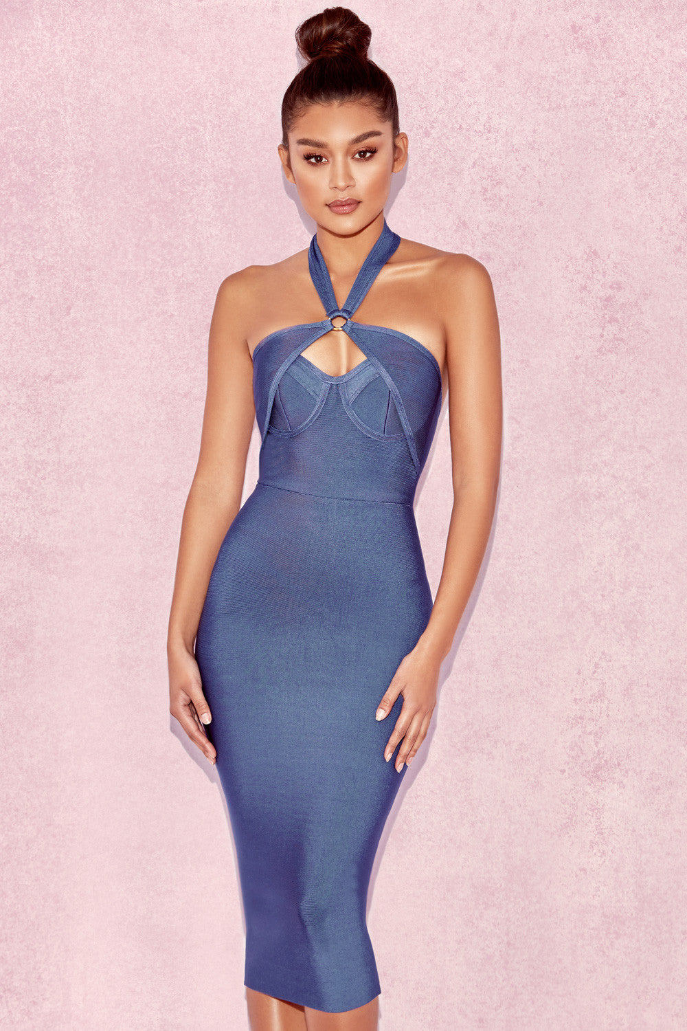 Sleeveless Halter Bandage Dress