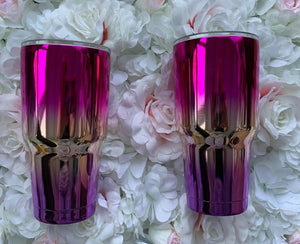 Luxury Tumblers 30oz full glitter ombre car