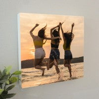 Wooden wall hanging photo block