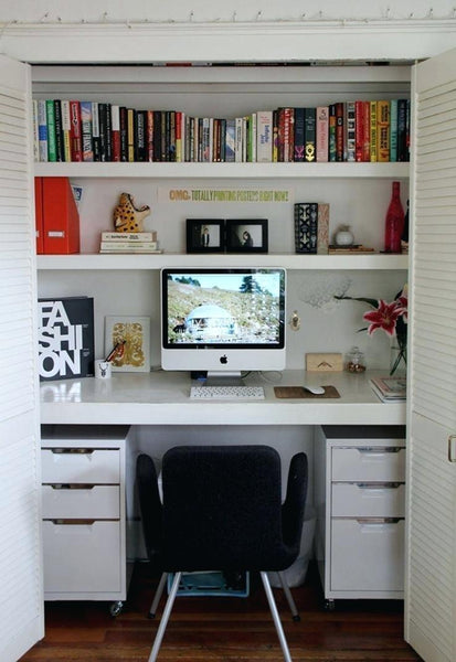 Cottage Home Office Storage Ideas