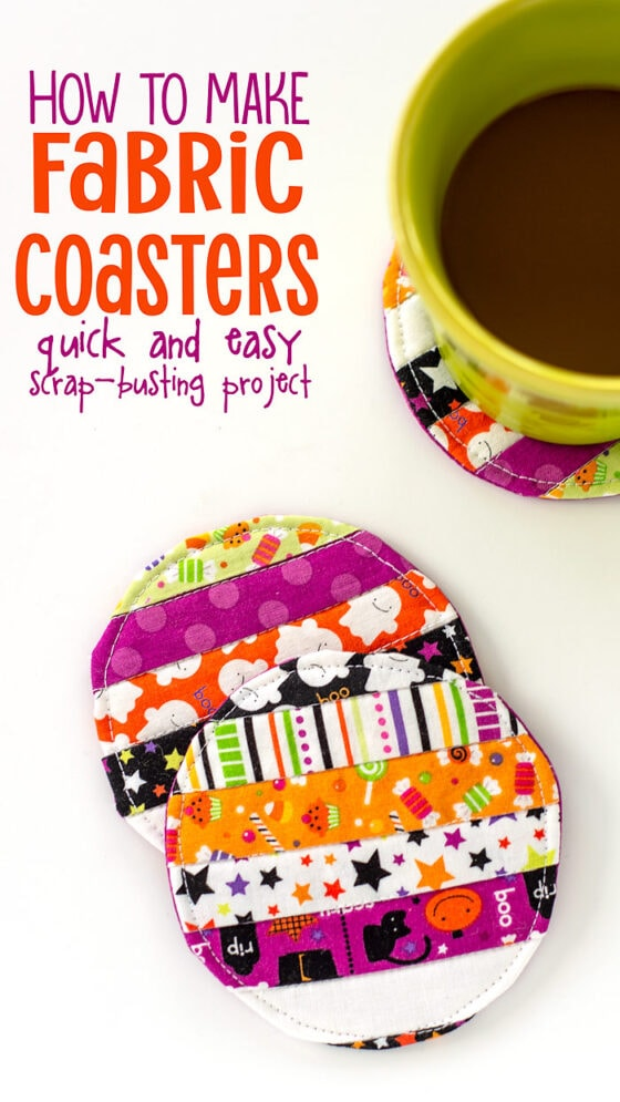 Looking for a quick and easy scrap-busting project that is actually useful? Then you need to make these adorable Fabric Coasters! If you love easy quilting projects, you will really enjoy whipping out these DIY coasters with this easy fabric coaster...