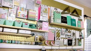 "This video is about Craft Room Organization: Heidi Swapp Inspired Pegboard LOOK FOR A ""SHARE YOUR SPACE"" FEATURE ON THE WWW.CLIQUEKITS."