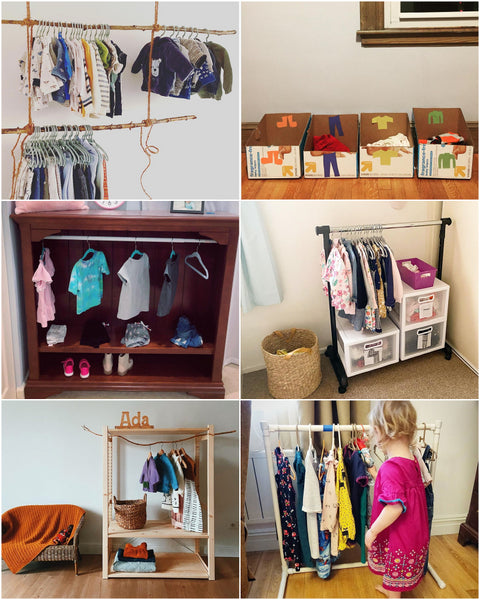 Low to No Cost Montessori Wardrobe Idea