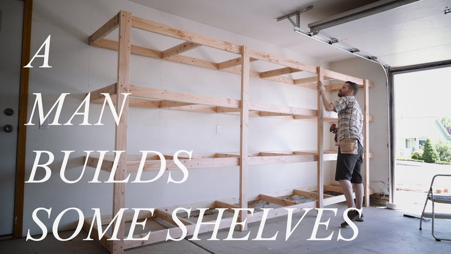 Today I show you how to build your own garage shelving unit built out of 2x4s and plywood (or OSB)