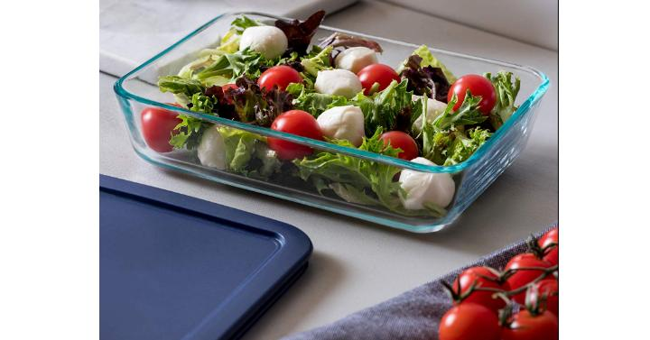 Pyrex Simply Store 3-Cup Rectangular Glass Food Storage Dish – Only $7.10!