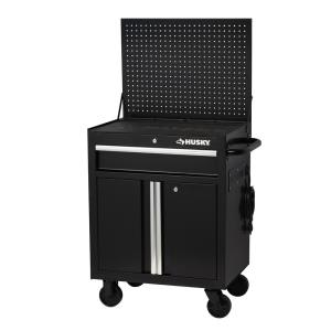 "Husky 27"" W x 19"" D 1-Drawer 2-Door Tool Chest Rolling Cabinet only $69.00"