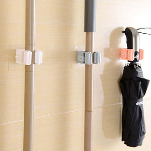 Broom Mop Holder Wall Mounted Storage Rack Storage & Organization(3 PCS)