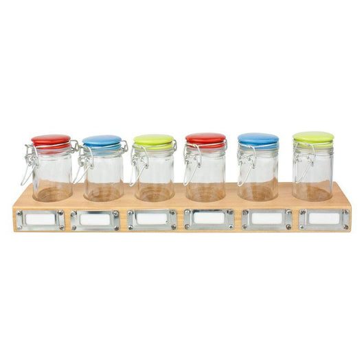 Spice Rack with Jars