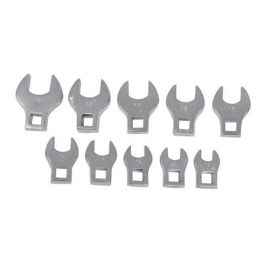 Silverline 111508 Crows Foot Spanner Set 10 Piece 10mm - 19mm
