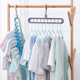 5Pcs 360 Degrees Rotatable Hook Balcony Coat Hangers Wardrobe Storage Rack