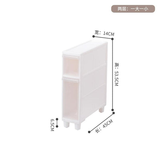 2019 Sale Cajoneras De Plastico Organizador Para Ropa 14cm Seam Storage Rack Plastic Toilet Drawer Type Locker Cabinet Pulley