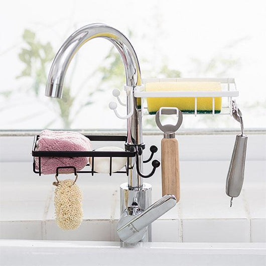 Multifunctional faucet storage rack