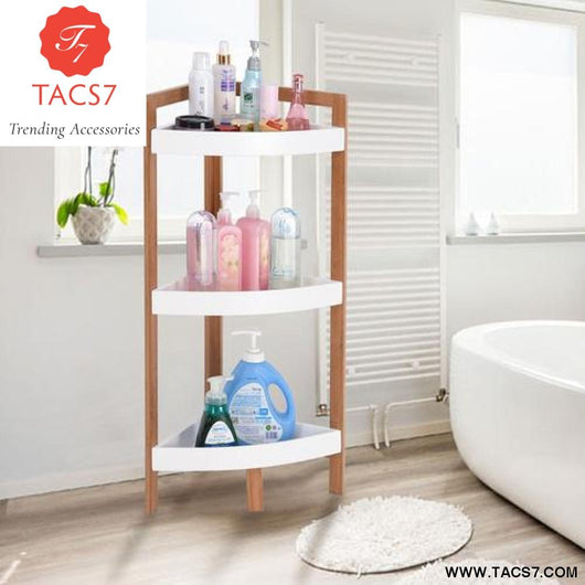 3 Tier Corner Shelf Tower Storage Bathroom